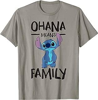 Ohana Means Family Stitch T Shirt