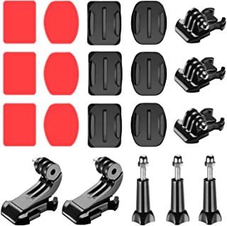 Neewer 20-in-1 Accessory Kit for Gopro: Buckle Clip Basic Mount,J-Hook Buckle Mount,Long Thumb Screw 3-Pack Adhesive Mount...