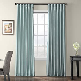 duck egg blue silk curtains