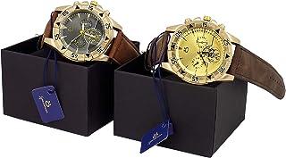 Kit 2 Relógios Masculino Orizom Original Couro + caixa