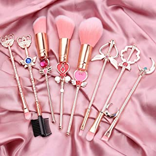 Sailor Moon Makeup Brushes Set - 8pcs Cosmetic Makeup Brush Set Professional Tool Kit Set Pink Drawstring Bag Included (Sa...