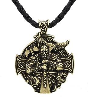 Xicoh Men Norse Viking Odin Sword Raven Rune Pendant Necklace