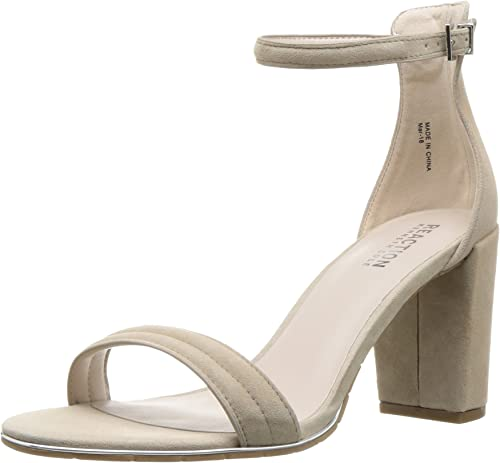 Kenneth Cole REACTION Wohommes Lolita Strappy Strappy Heeled Sandal, Taupe, 7.5 M US  confortablement