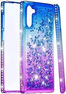 Plus 5G Ranyi Full Body Protection 3 in 1 Bumper Bling Diamond Glitter Rhinestone Design Shock Absorbing High Impact Defender Case for Samsung Galaxy Note 10 Galaxy Note 10 Plus Case Purple
