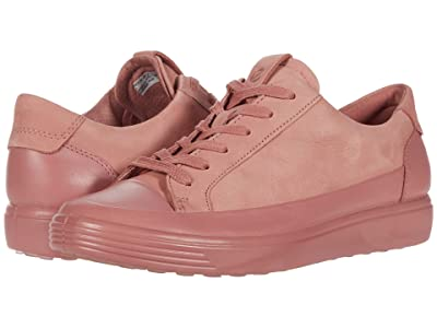 ECCO Soft 7 Monochromatic Sneaker (Damask Rose/Damask Rose Cow Leather/Cow Nubuck) Women