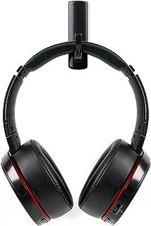 DURAGADGET Soporte/Gancho para Auriculares Creative Sound Blaster X H7, EVO Wireless, EVO ZxR, EVO, Jam, Tactic3D Rage Wireless V2.0, WP-450 con Adhesivo fijador. Color Negro