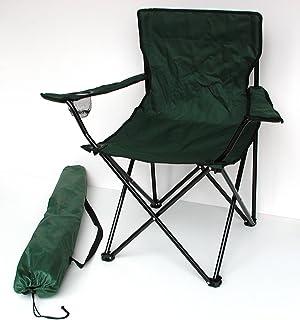 Lex Silla Plegable Verde Silla de Camping Pesca Silla getraenk Plana