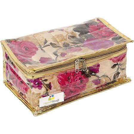 HomeStrap Fabric Jewellery Organizer/Kit/Pouch (Pink)