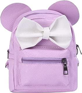 Minnie Backpack Bowknot Cute Travel Cartoon Ear School Shoulder Mini Bag for Kid Girls Teens Women