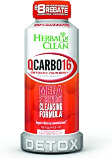 Herbal Clean QCarbo16 Strawberry Mango, 16 Fluid Ounce Mega Strength Cleansing Formula