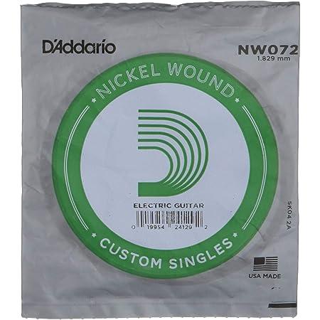 D'Addario NW072 - Cuerda para guitarra eléctrica de níquel.072