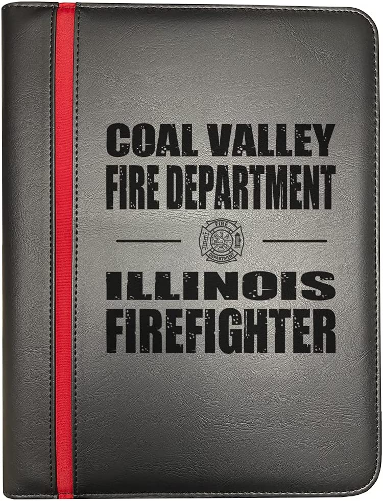 Coal Valley Illinois Fire Departments Red NEW Line Firefighter Thin Regular store