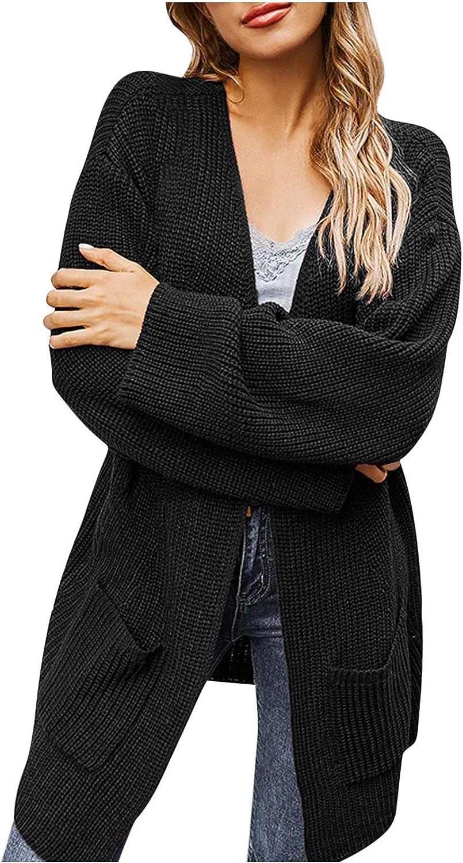 yijiwei Womens Translated Winter Cardigan Long Sweaters Color Popular overseas Solid Sleeve