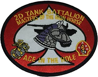 USMC 2D TANK BATTALION MASTERS OF THE IRON HORSE OVAL PATCH - COLOR - Veteran Owned Business