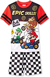 Super Mario, Luigi and Donkey Kong Epic Skills Pajama Shorts Set