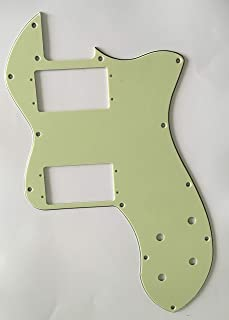 Electric Guitar Pickguard for Tele Classic Player Thinline Style (3 Ply Vintage Green)