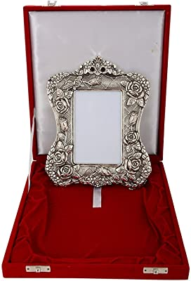 Plated Photo Frame Oxidized Silver Finish for Diwali, Corporate Gift, Wedding Return Gift, House Warming
