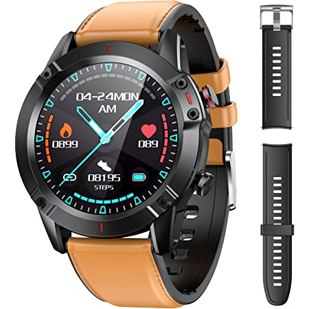 """AGPTEK Smartwatch Uomo Orologio Fitness con Cinturino di Ricambio Touchscreen 1.3"""" Cardiofrequenzimetro da Polso Contapassi Activity Tracker Impermeabile IP68 per Android iOS"""