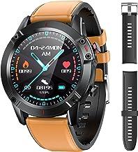 AGPTEK Montre Connectée Homme, Smartwatch Montre Sport, Bracelet Connecté Étanche IP68 Fitness Tracer Cardiofréquencemètre/Sommeil/Podomètre, Montre Intelligent avec 2 Sangles pour Android/iOS