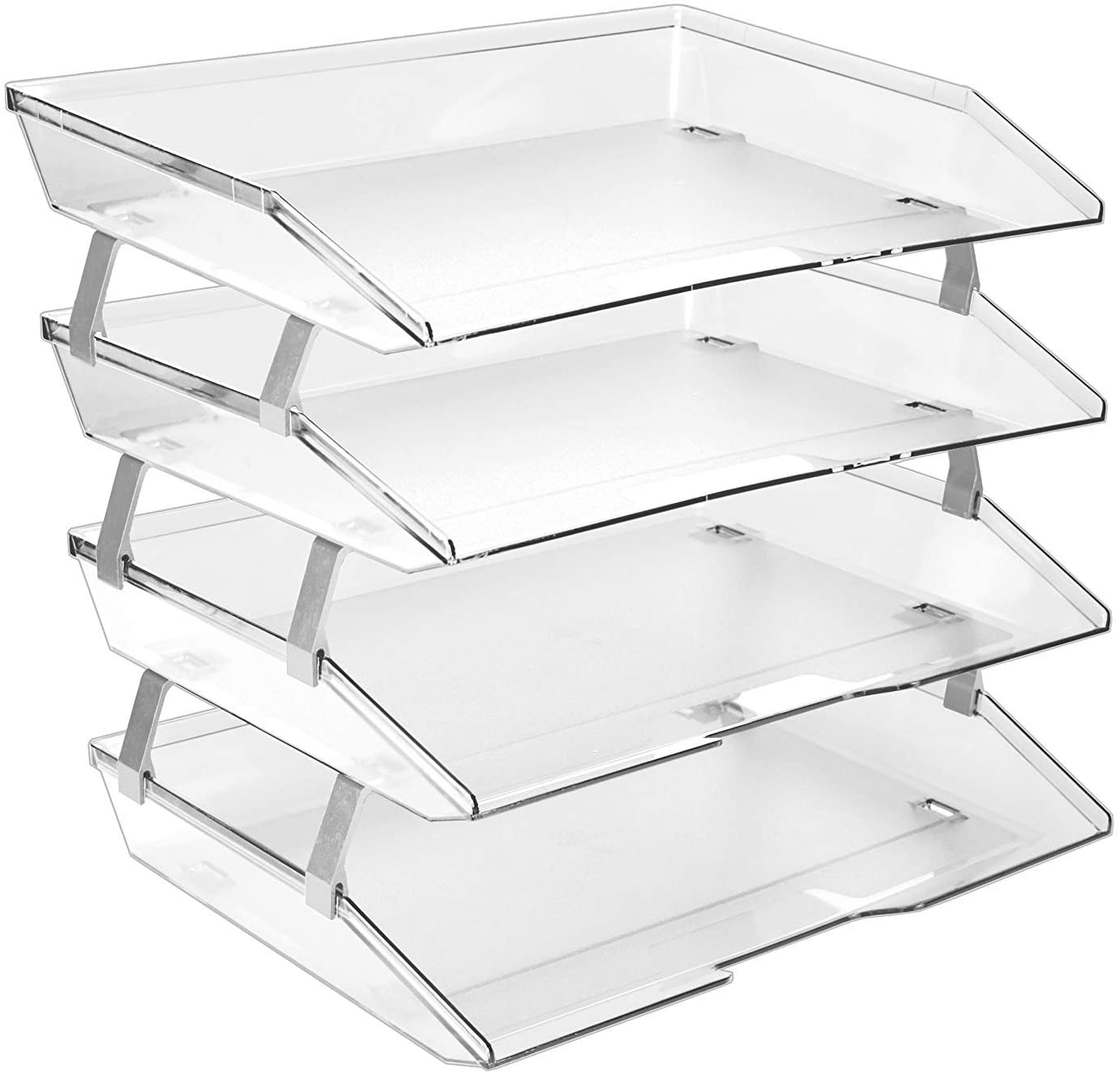 Acrimet Facility Spring new work one after another 4 Tier Letter Tray Fi Side Load Super beauty product restock quality top Plastic Desktop