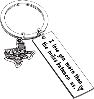 Long Distance Key Chain Relationship State Map Keychain Gifts Boyfriend Lover Couple Girlfriend