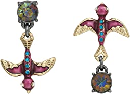 Betsey Johnson - Non-Matching Two-Tone Bird Earrings
