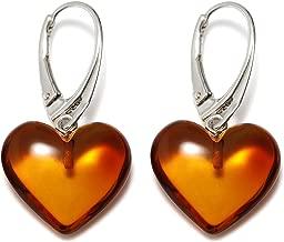 Best baltic amber heart earrings Reviews