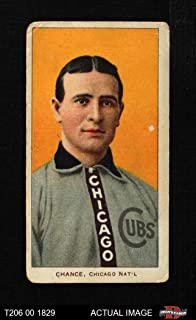 1909 T206 YEL Frank Chance Chicago Cubs (Baseball Card) (Portrait with a Yellow or Orange Background) Dean's Cards 2 - GOOD Cubs