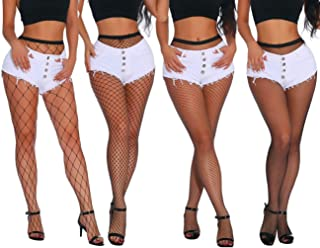 Fishnet Stockings High Waist Tights for Women Cross Thigh High Pantyhose Nylon Sexy Pantyhose