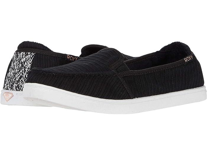 black roxy slip on shoes