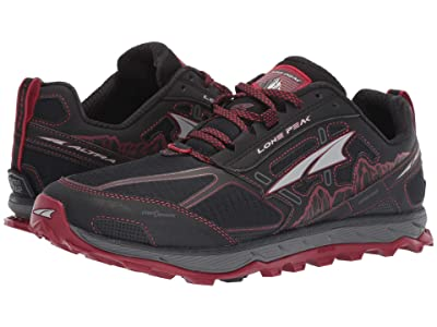 Altra Footwear Lone Peak 4 (Black/Red) Men