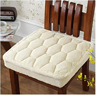 4040Cm Thicken Chair Cushion Home Decoration Anti Slip Seat Cushion Super Soft Throw Pillow Back Cushion Solid Color,Jiangemibai,Thickness About 2Cm