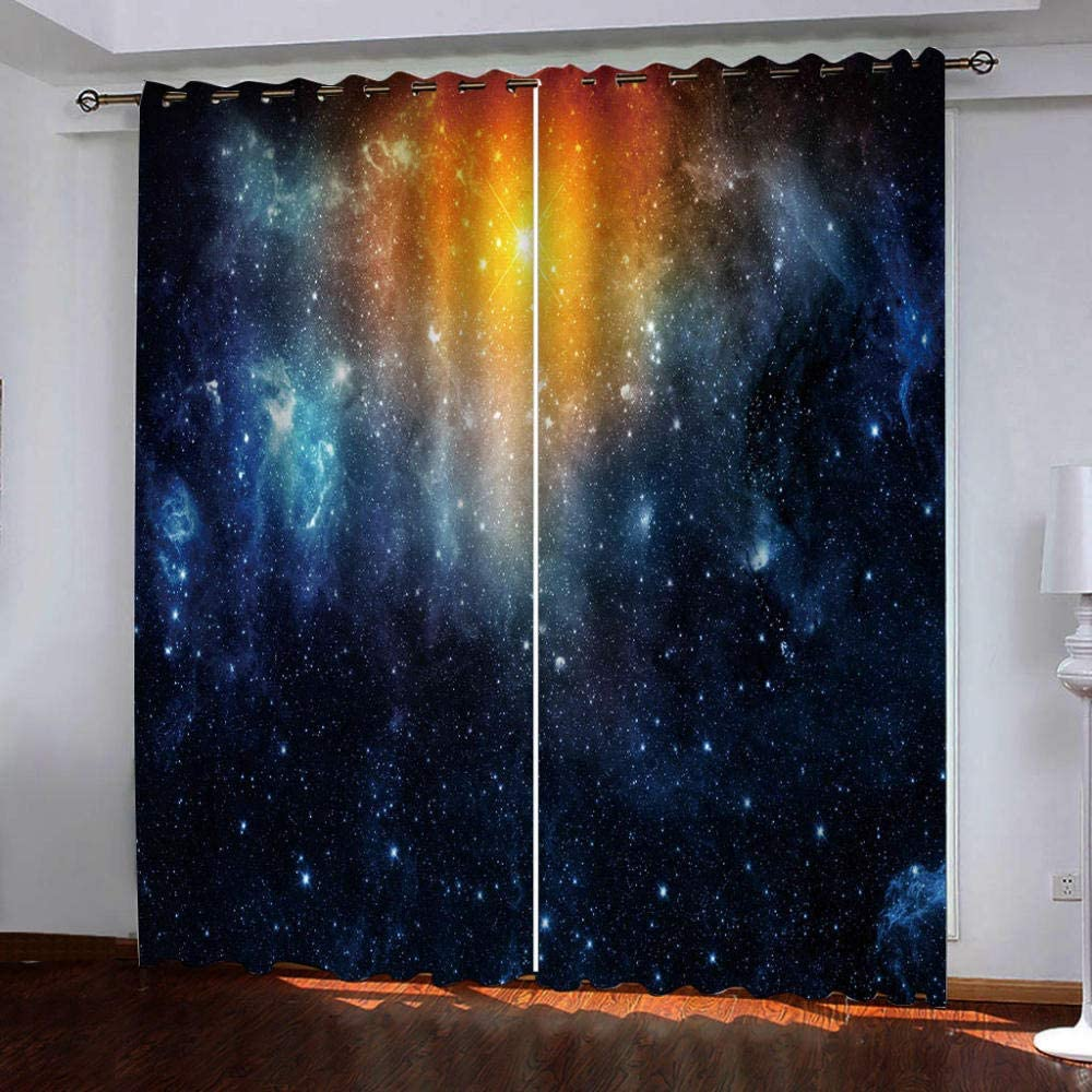 Blackout Curtains for Bedroom Fantasy Challenge the lowest price of Japan ☆ Popular popular Cold Sky Heat Light Starry