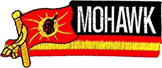 Mohawk Native Flag 4.5X1.5 in MEGADEE Patch Cartoon Kids Symbol DIY Iron on Patch Iron-On Designer Patch Used for Gifts Cr...