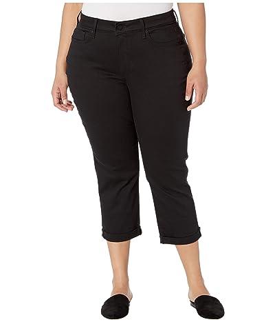 NYDJ Plus Size Plus Size Chloe Capri Jeans in Black (Black) Women