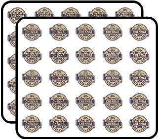 Chennai City India Grunge Travel Stamp Sticker for Scrapbooking, Calendars, Arts, Kids DIY Crafts, Album, Bullet Journals 50 Pack