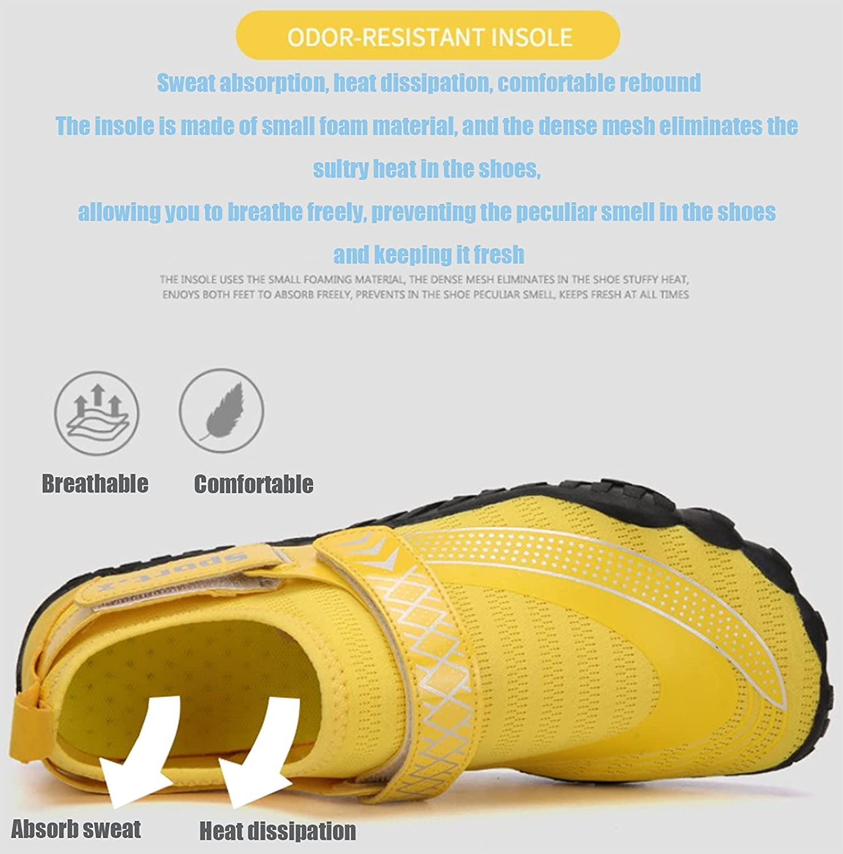 Olaffi Shoes Mens Womens Beach Swim Shoes Quick-Dry Aqua Socks Pool Shoes for Surf Yoga Water Aerobics