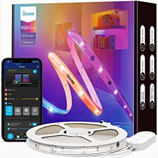 Govee RGBIC Pro LED Strip 10m, Smart LED Strip funktioniert mit Alexa und Google Assistant, beschichtes Lichtband Sync mit...
