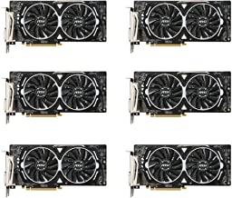 uShopMall&MSI WT73VR1205TAA 6 Packs of MSI VGA Graphic Cards RX 580 Armor 8G OC for Etheruem Zcash Cryptocurrency Mining (...