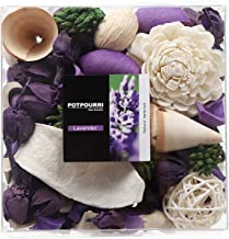 Qingbei Rina Gift Lavender Scent Potpourri Bag Clear Gift Box, Dried Flower Bowl and Vase Filler, Home Fragrance Perfume S...