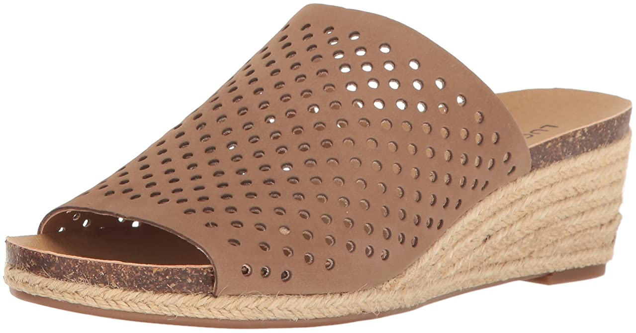 第九レタス不和Lucky Brand Womens Jemya Open Toe Leather Mules, Brown, Size 7