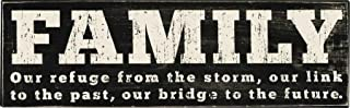 Primitives by Kathy Classic Black and White Box Sign, 16 X 5, Family