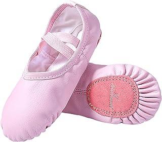 MdnMd Girls Ballet Shoes Slipper for Dance Yoga Practice (Toddler/Kids)