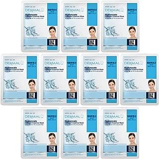 DERMAL Hyaluronate Collagen Essence Facial Mask Sheet 23g Pack of 10