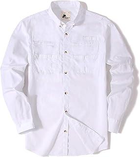 Mens Fishing Shirts Long Sleeve Casual Button Down Cotton Men Shirt