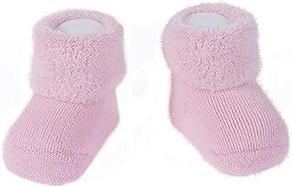 CALZITALY Calze Neonato Calde | Scarpine Baby Bambini Inverno | Calzini Colorati per Neonati | Taglia Unica 0-24 Mesi | Ma...