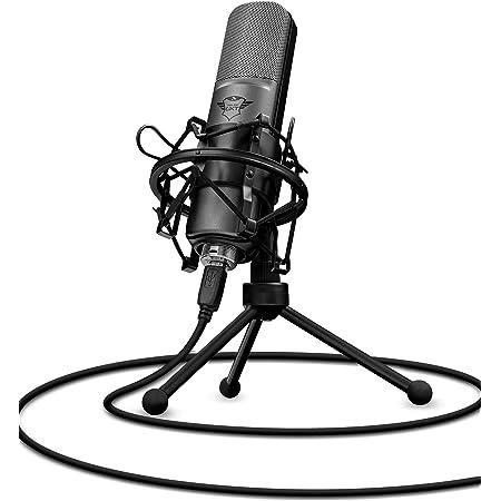 Trust Gaming GXT 242 Lance Microfono Streaming, per PC, PS4 e PS5, Nero
