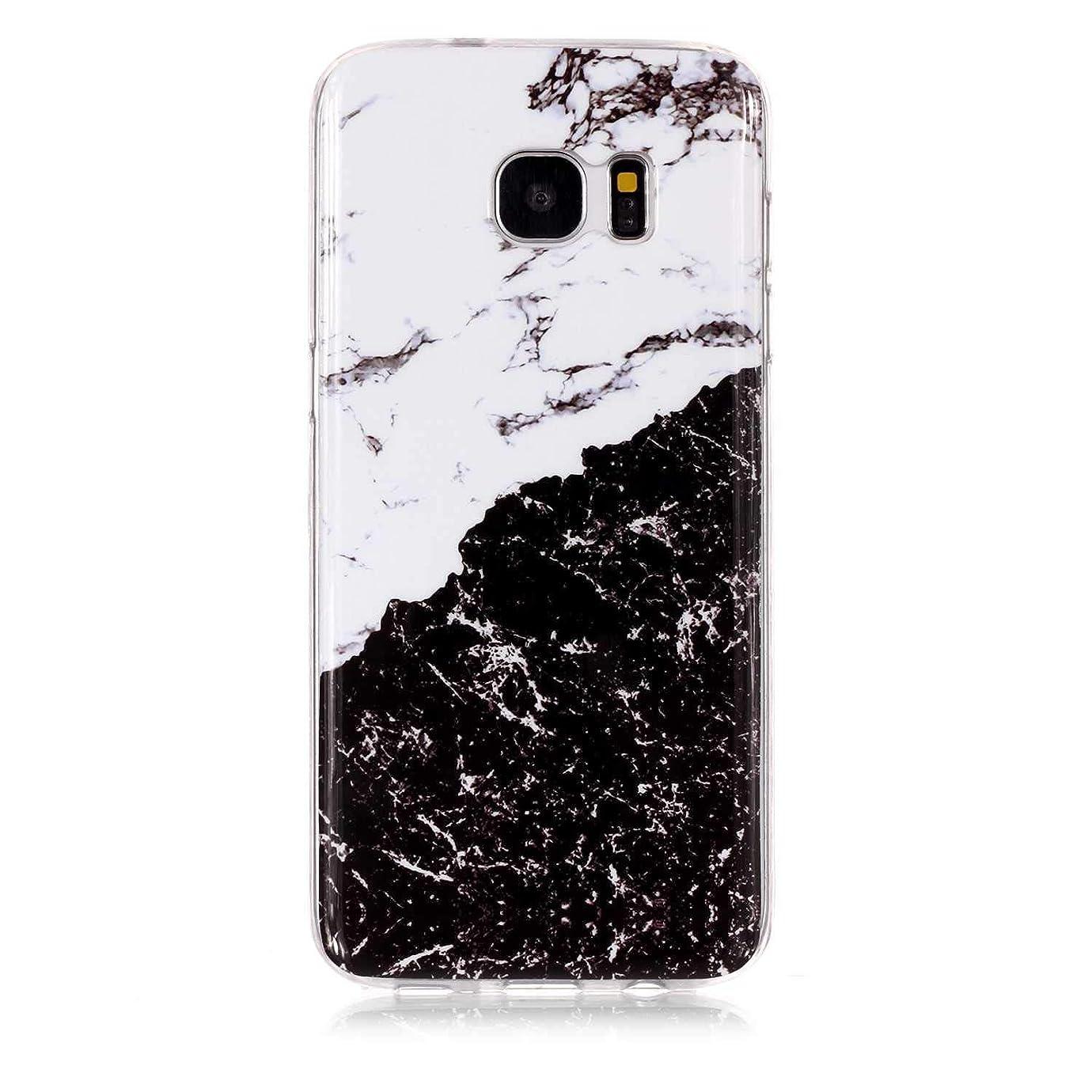 ルビーサイレン夜Galaxy S7 Edge ケース, OMATENTI マーブル 美しい薄型 柔らかTPU い ケース, 人気 新製品 滑り防止 衝撃吸収 全面保護 バックケース, 耐摩擦 耐汚れ 落下防止 耐衝撃性 Galaxy S7 Edge 用 Case Cover,パターン-2
