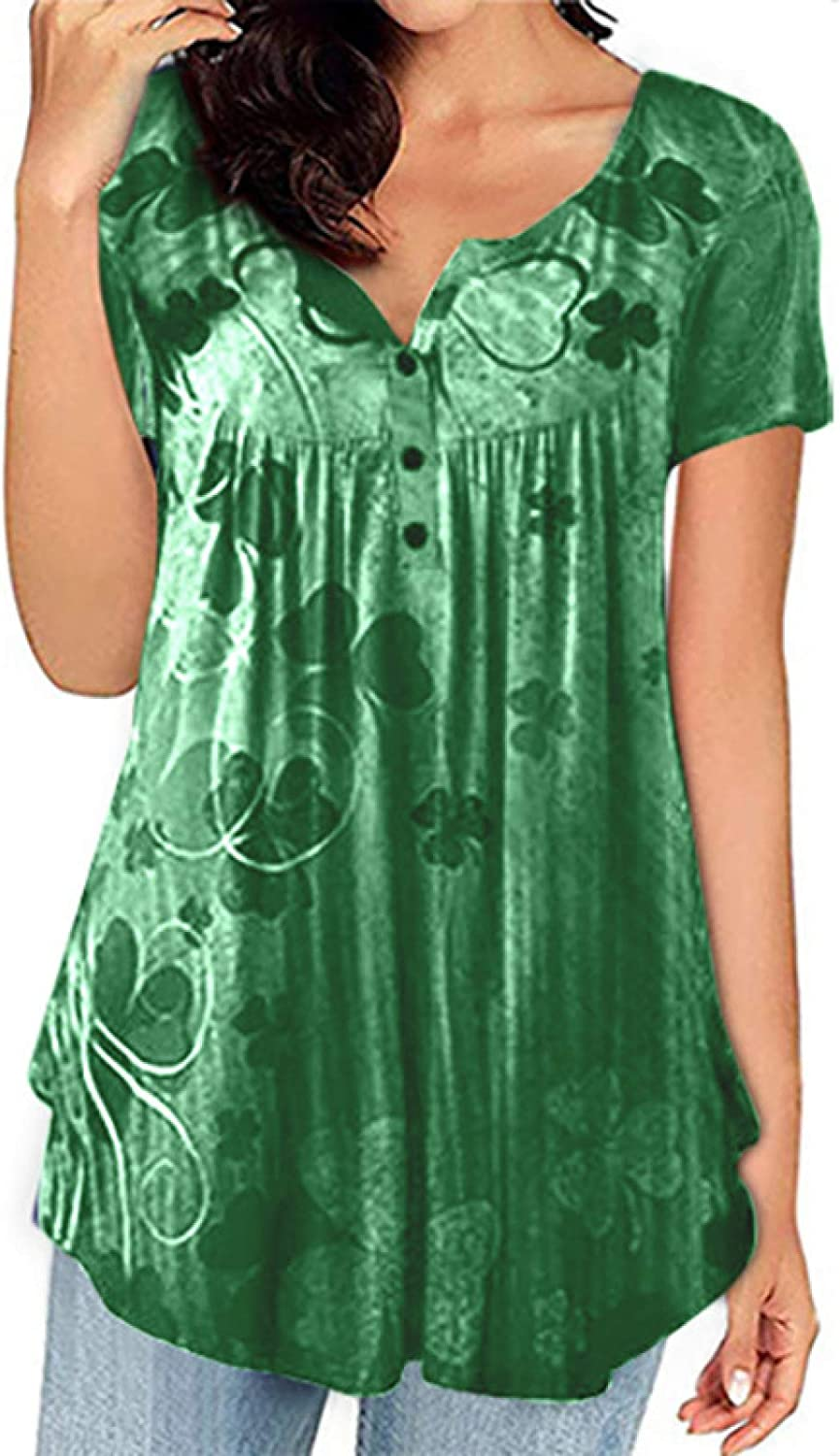 Womens Max 61% OFF Summer Max 49% OFF Tops Retro Print Long Large Size But Loose Pleated