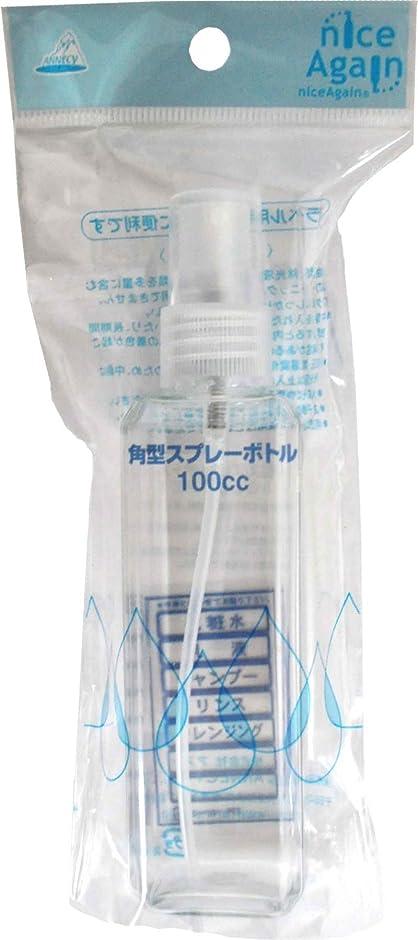 報告書四分円かろうじてNICE AGAIN 角型スプレーボトル 100cc TD-50